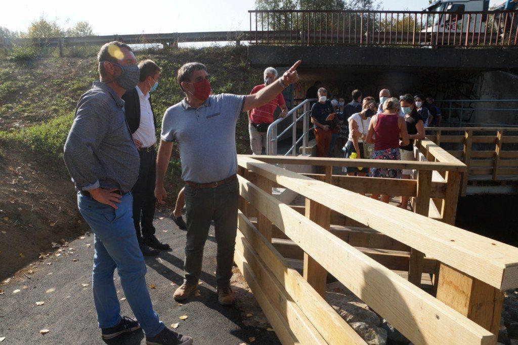 Inauguration de la passerelle sur Le Lindon le lundi 21 septembre 2020